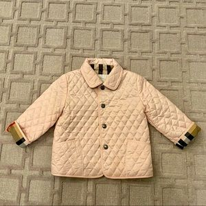 Burberry Quilted Jacket - light pink
